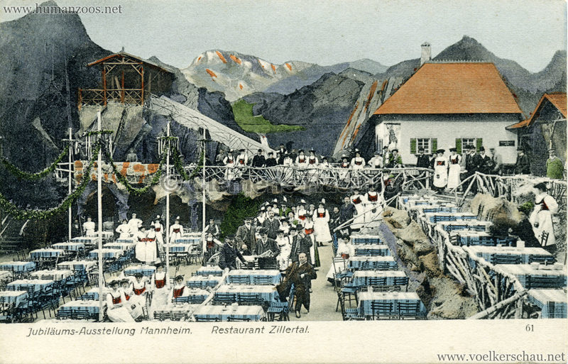 1907 Jubiläumsausstellung Mannheim - Restaurant Zillerthal 2