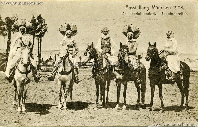 1908 Ausstellung München - Das Beduinendorf - 83. Beduinenreiter