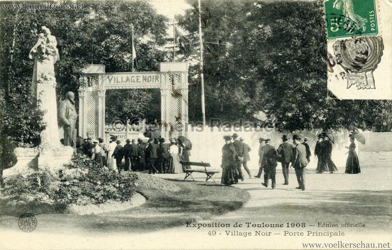 1908 Exposition de Toulouse - 49. Village Noir - Porte Pincipale