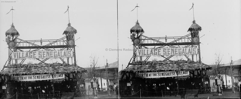 1908 Franco-British Exhibition - Birth at the Senegalese Village GLASSDIA