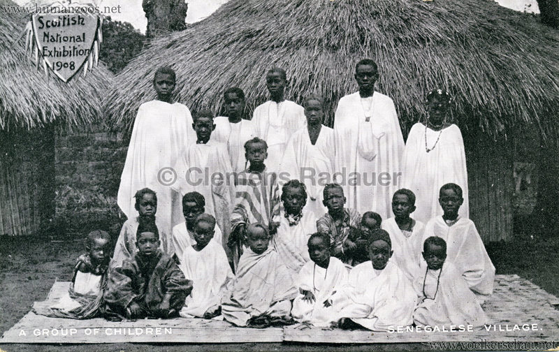 1908 Scottish National Exhibition - Senegalese Village - A Group of Children