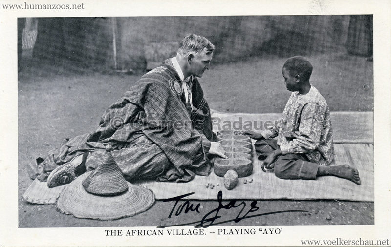 1909 Africa & The East Exhibition - The African Village - Playing