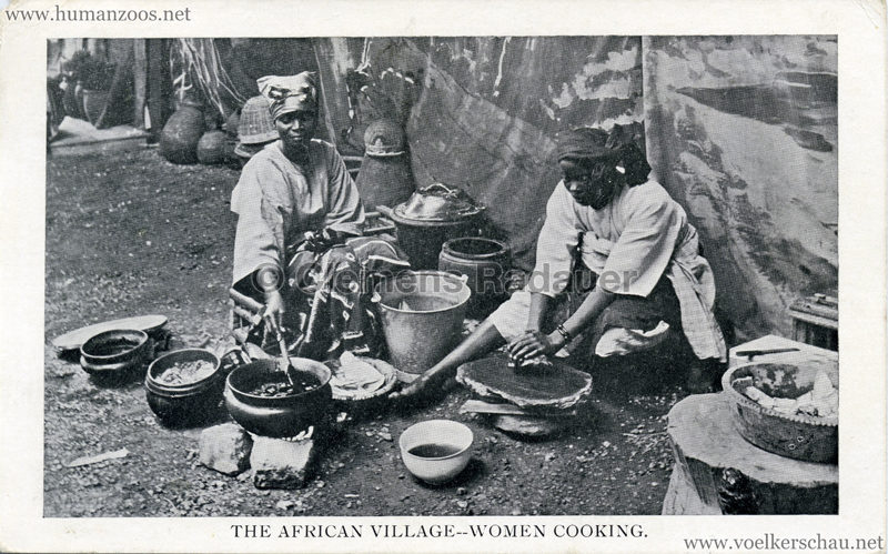 1909 Africa & The East Exhibition - The African Village - Women Cooking
