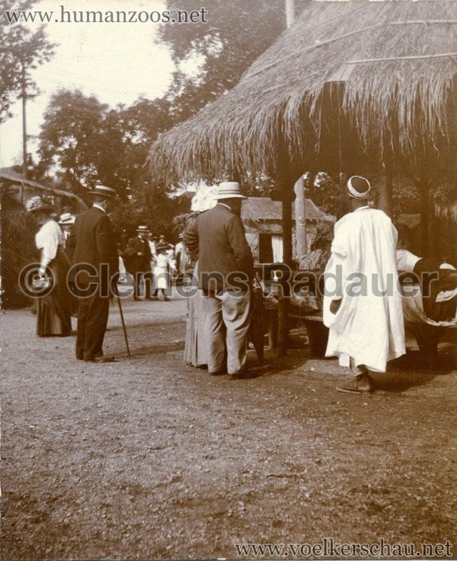 1909 Exposition de Nancy - Village Sénégalais STEREOVIEW Detail