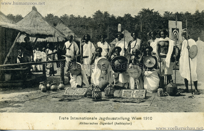 1910 Erste Internationale Jagdausstellung Wien - Afrikanisches Jägerdorf (Äthiopien) 8