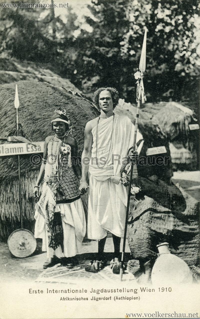 1910 Erste Internationale Jagdausstellung Wien - Afrikanisches Jägerdorf (Äthiopien) 9