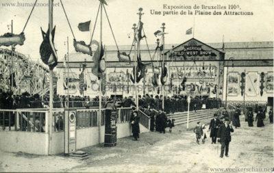 1910 Exposition de Bruxelles - Une partie de la Plaine des Attractions - American Wild West Show
