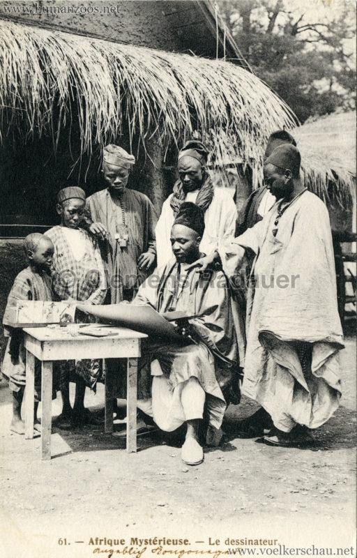 1910 L'Afrique Mystérieuse - Jardin d'Acclimatation - 61. Le Dessinateur (angeblich Kongoneger)