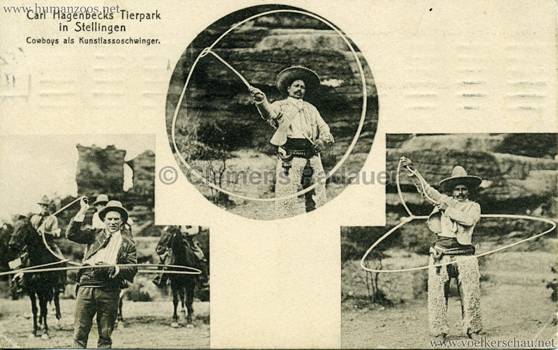 1910 Sioux - Cowboys als Kunstlassoschwinger VS