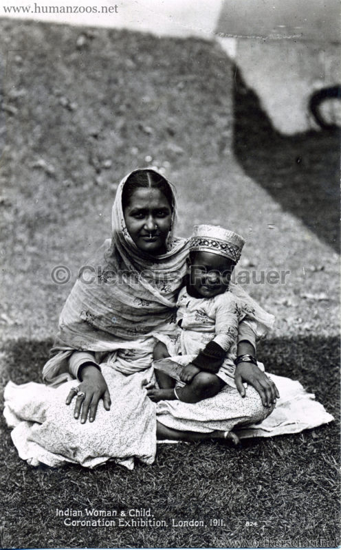 1911 Coronation Exhibition London - 824. Indian Woman & Child