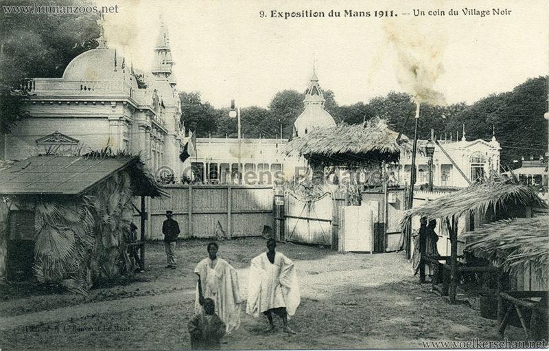 1911 Exposition du Mans - Le Village Noir - 9. Un coin du Village Noir