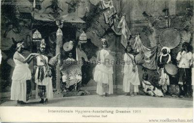 1911 Internationale Hygieneausstellung Dresden - Abyssinisches Dorf 3 VS
