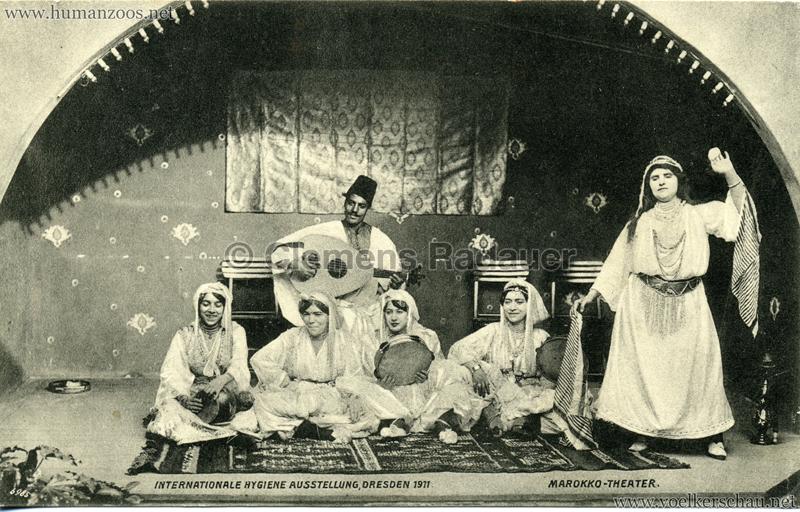1911 Internationale Hygieneausstellung Dresden - Marokko-Theater