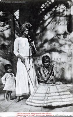 1911 Internationale Hygieneausstellung Dresden - Ostasiatische Ecke - Indische Zauberer
