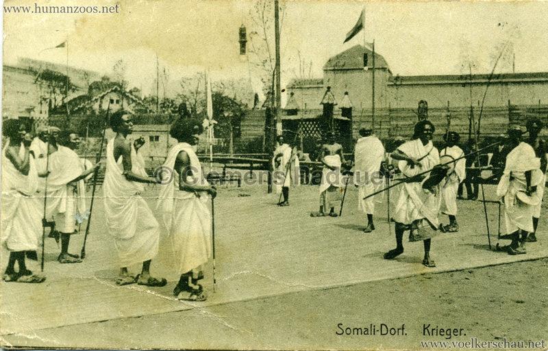 1912 Bayrische Gewerbeschau München - Somali Dorf - Krieger Nr. 114 VS
