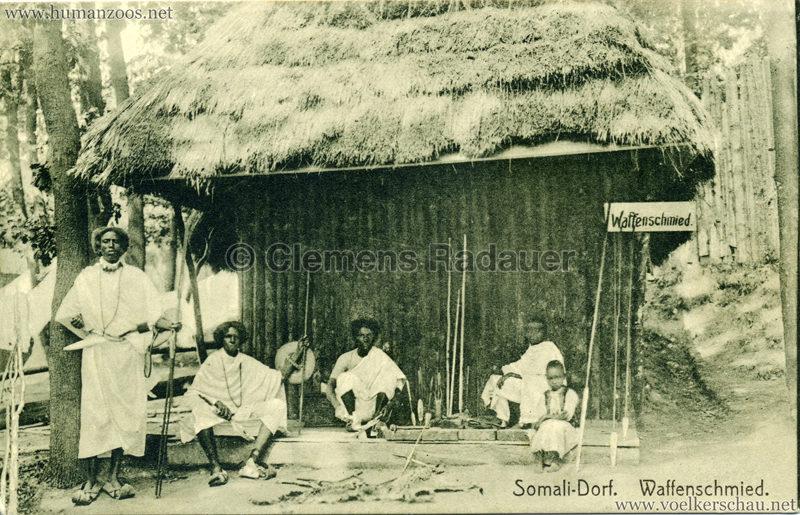 1912 Bayrische Gewerbeschau München - Somali Dorf - Waffenschmied Nr. 102