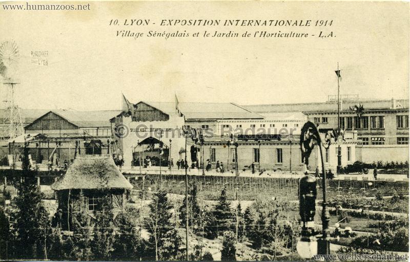 1914 Exposition Coloniale Lyon - Jardin & Village Sénégalais 2
