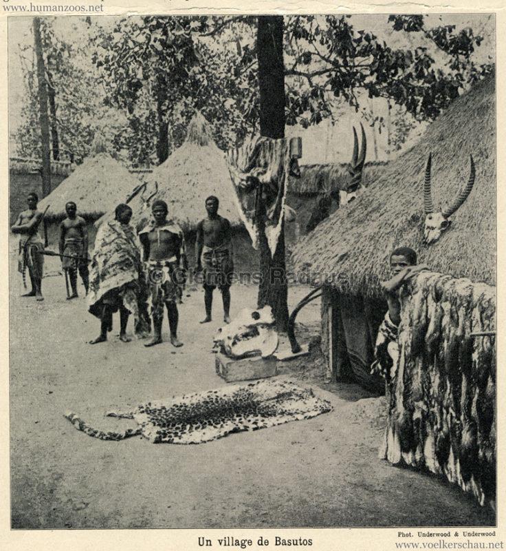 1914 La grande géographie BONG illustrée S.263 - Un village de Basutos