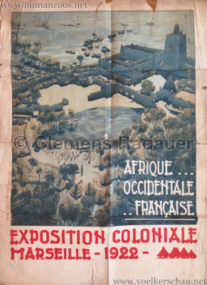 1922 Exposition Coloniale Marseille - Afrique Occidentale Francaise POSTER