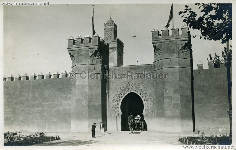 1922 Exposition Coloniale Marseille FOTO - Pavillon marocain