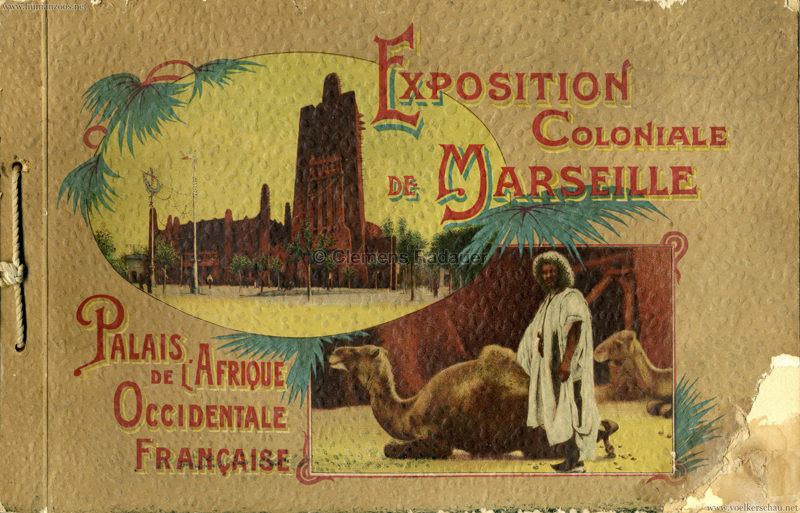 1922 Exposition Coloniale Marseille - Palais de l'Afrique Occidentale Francaise 1
