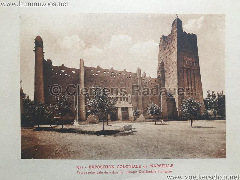 1922 Exposition Coloniale Marseille - Palais de l'Afrique Occidentale Francaise 2 - Facade Principale