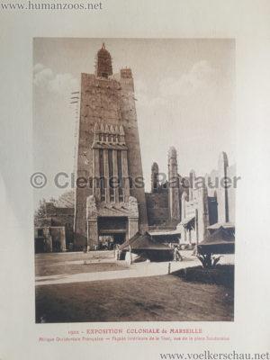 1922 Exposition Coloniale Marseille - Palais de l'Afrique Occidentale Francaise 3 - Facade Interieur
