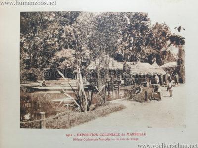 1922 Exposition Coloniale Marseille - Palais de l'Afrique Occidentale Francaise 5 - Un coin du village