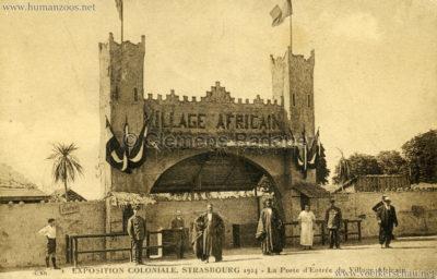 1924 Exposition Coloniale Strasbourg - La porte d'Entree du Village Africain