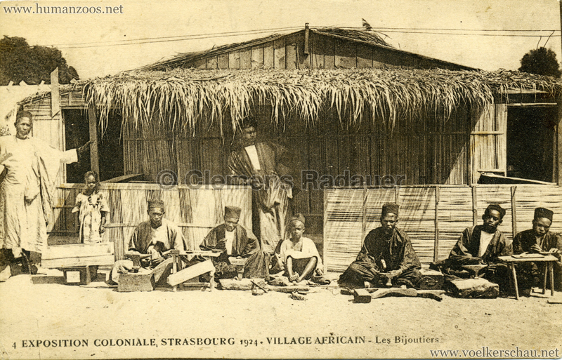 1924 Exposition Coloniale Strasbourg - Village Africain - 4. Les Bijoutiers