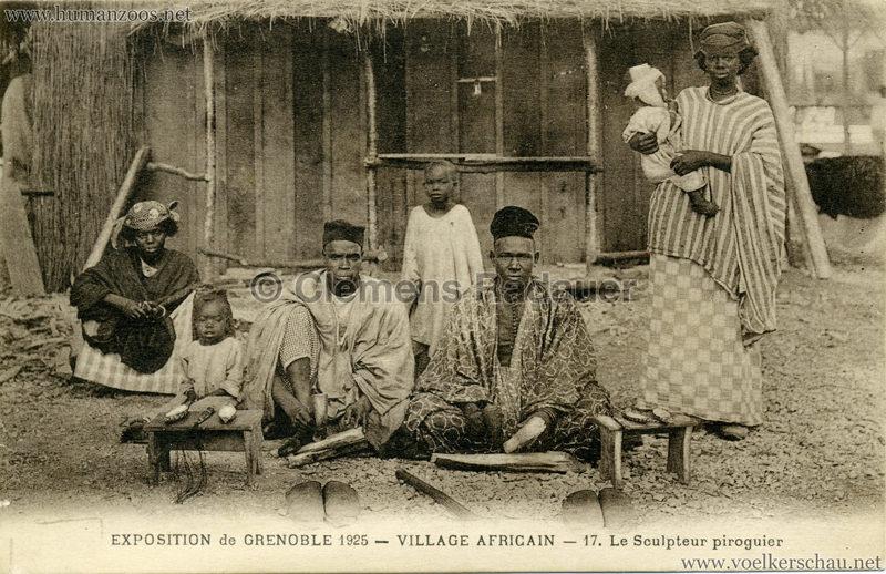 1925 Exposition Internationale Grenoble - Le Village Africain - 17. Le Sculpteur piroguier