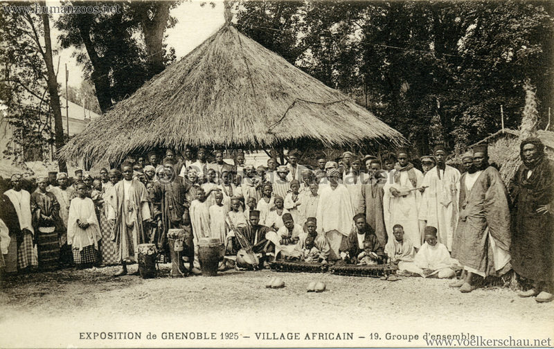 1925 Exposition Internationale Grenoble - Le Village Africain - 19. Groupe d'ensemble