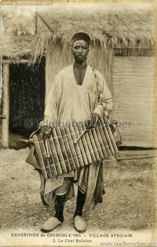 1925 Exposition Internationale Grenoble - Le Village Africain - 3. Le Chef Balafon