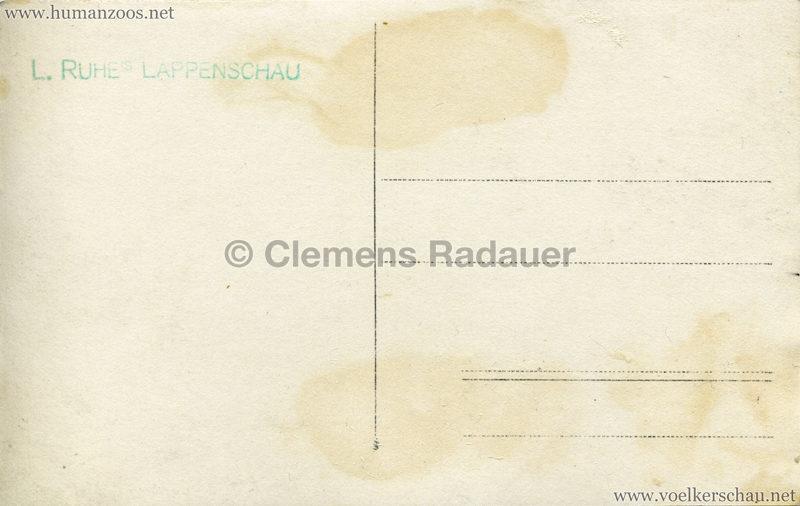 1925 L. Ruhe's Lappenschau aus Finnland FOTO RS