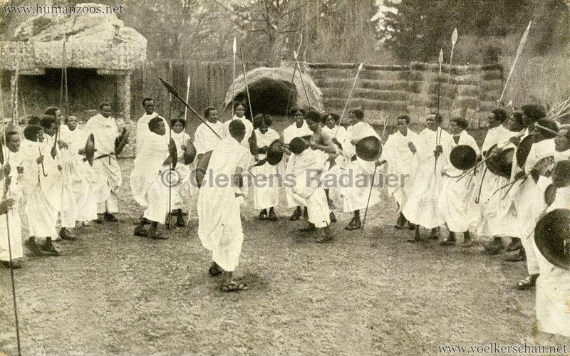 1926 L. Ruhe - John Hagenbeck's Somali-Dorf aus Abessinien - Kampf