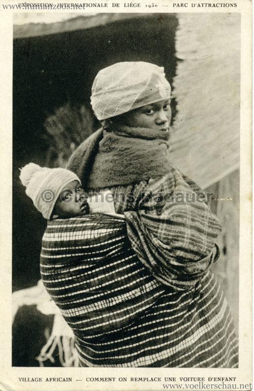 1930 Exposition Internationale de Liége - Village Africain - Comment on remplace une voiture d'enfant