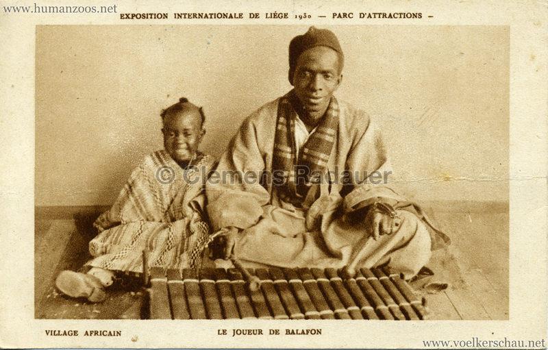 1930 Exposition Internationale de Liége - Village Africain - Le Joueur de Balafon