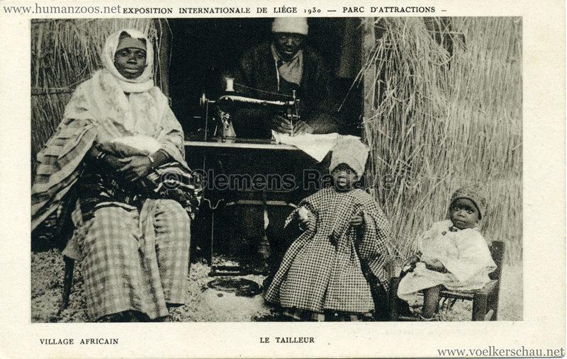 1930 Exposition Internationale de Liége - Village Africain - Le Tailleur