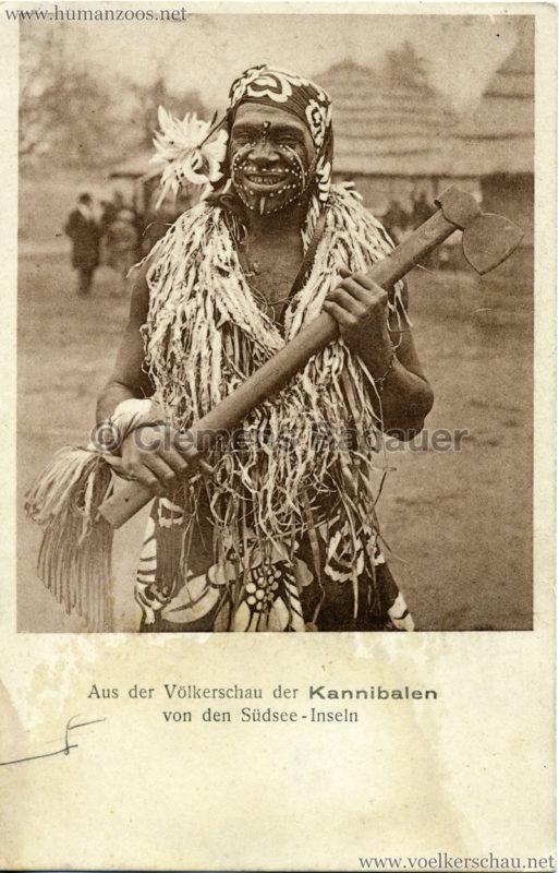 1931 Aus der Völkerschau der Kannibalen von der Südsee-Inseln