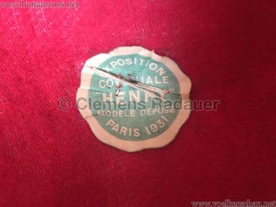 1931 Exposition Coloniale Internationale Paris HUT 4