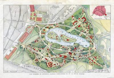 1931 Exposition Coloniale de Paris KARTE
