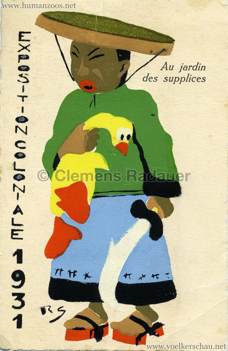 1931 Exposition Nationale Coloniale - Au Jardin des supplices