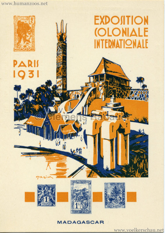 1931 Exposition Nationale Coloniale - Madagascar