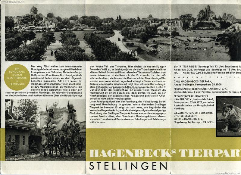 1932 Jubiläumsbrochüre - Völkerschau 1