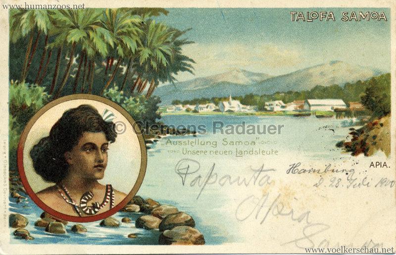 Talofa Samoa - Ausstellung Samoa . Unsere Neuen Landsleute 3 gel. 28.07.1900