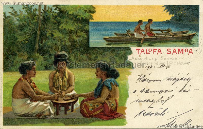 Talofa Samoa - Ausstellung Samoa . Unsere Neuen Landsleute