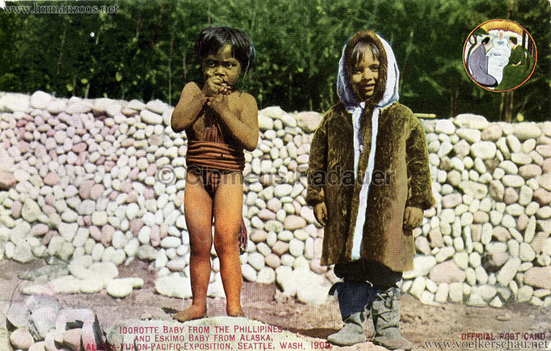 136. Igorotte Baby from the Phillipines and Eskimo baby from Alaska