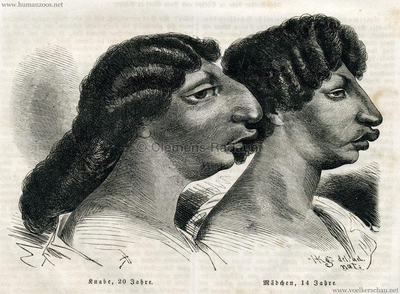 1861 Die Azteken, der Buschmann und die Corana S. 157 Detail 1