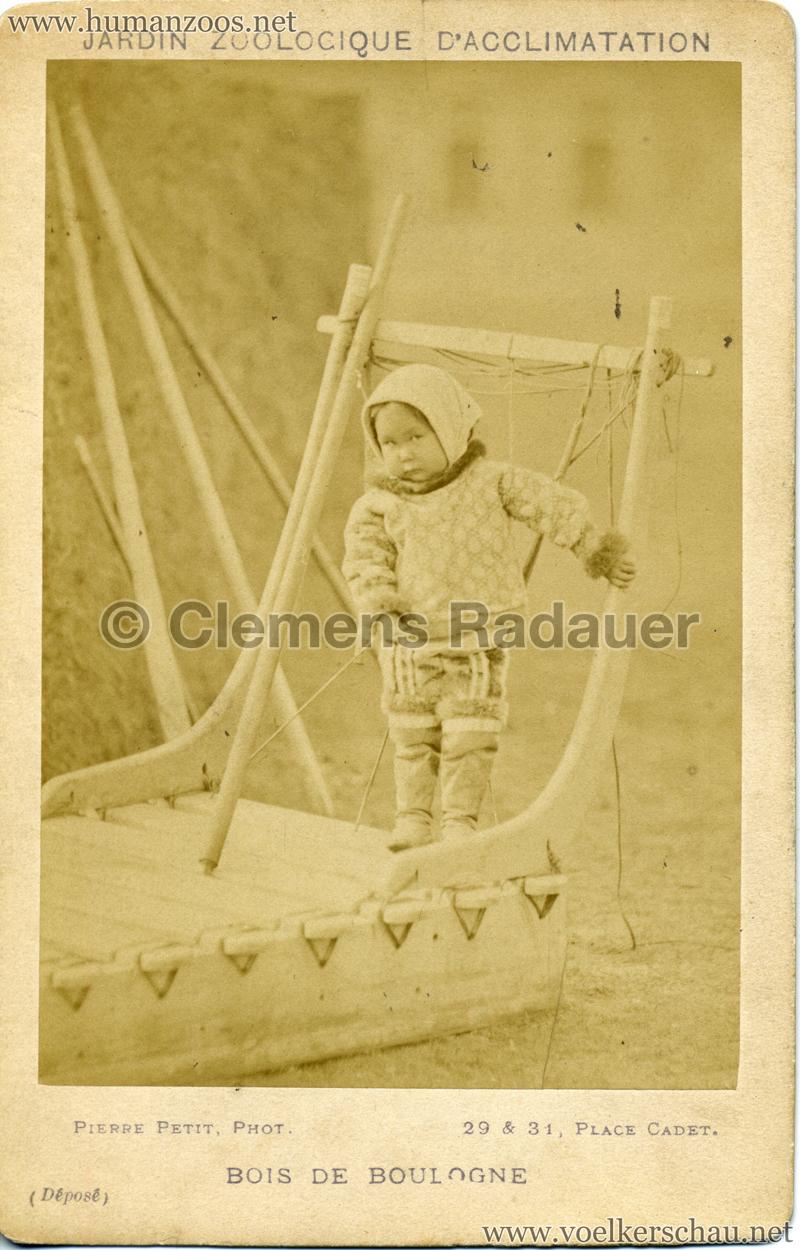 1878 (?) Jardin Zoologique d'Acclimatation Eskimo 2