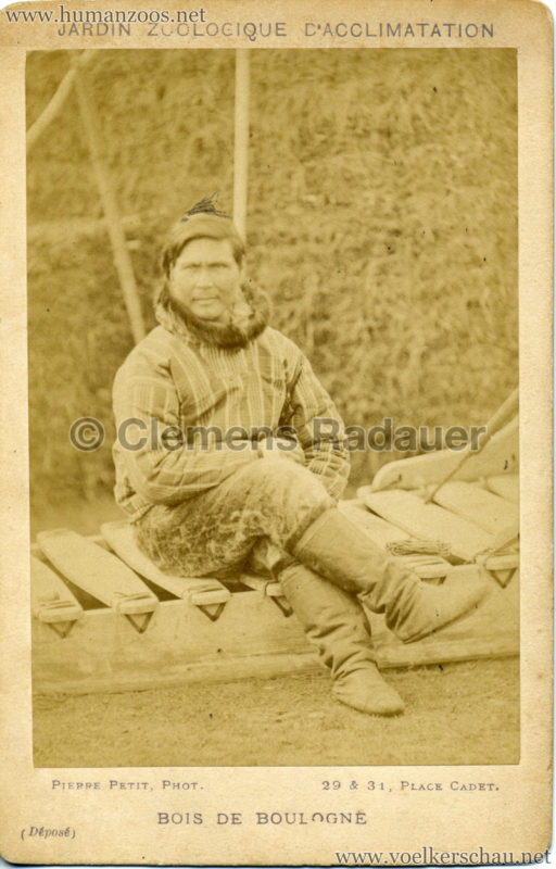 1878 Jardin Zoologique d'Acclimatation Eskimo 3